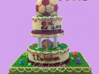 Soccer Ball Trophy Cake