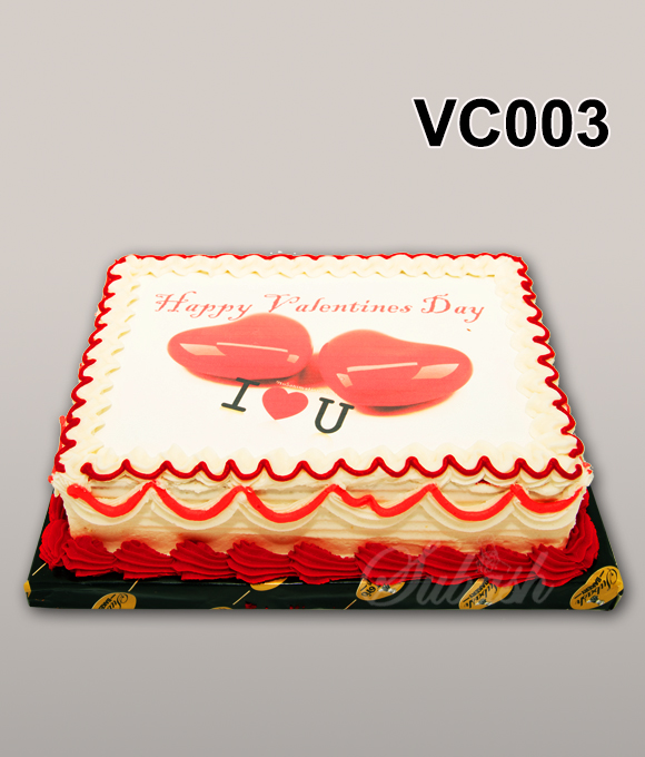 Box Shaped Valentine's day cake