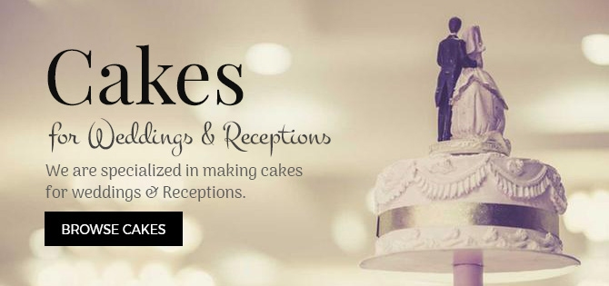 Cakes for Weddings & receptions