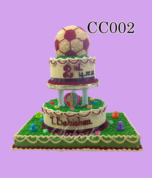 Soccer Ball Trophy Cake