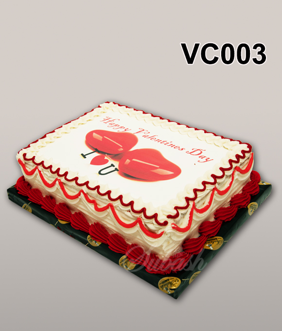 Box Shaped Valentine's day cake