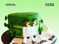 Corona virus model cake