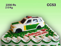 Birthday car cake
