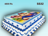 Double Structure with Print Birthday Cake