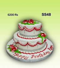 Double structure cake