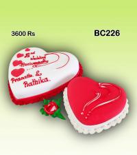 Double Heart valentine Cake