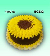 Sun flower Birthday cake