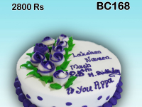 Fondant Birthday cake