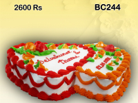 Twin Heart birthday cake