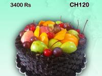 Chocolate fruits cake