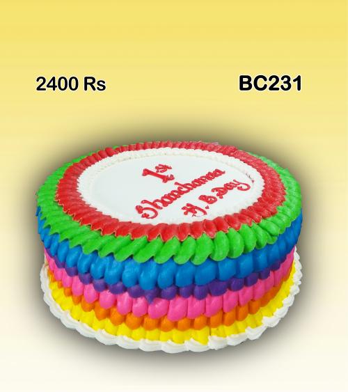 Rainbow Color Birthday cake