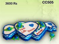 Twin Heart Key cake