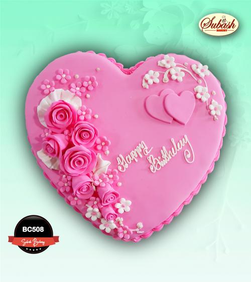Heart Shape Birthday cake