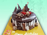 Round Shape Chocolate Cake