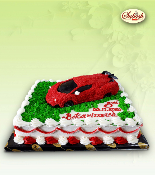 Toy Car Birthday cake