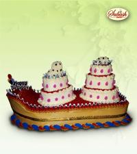 Boat Shape Birthday Cake