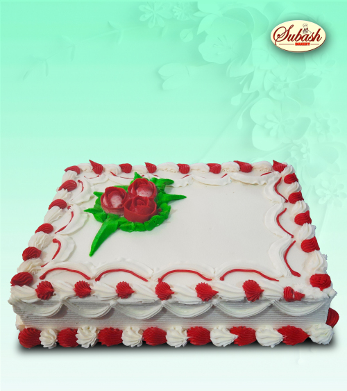 Square Shape Butter Birthday Cake